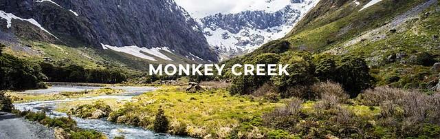 猴溪 (Monkey Creek)是米佛峽灣公路最大的亮點
