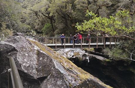 查森溪谷 (The Chasm)沿途的天橋