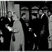 King shakes hands at Howard after speech: 1957