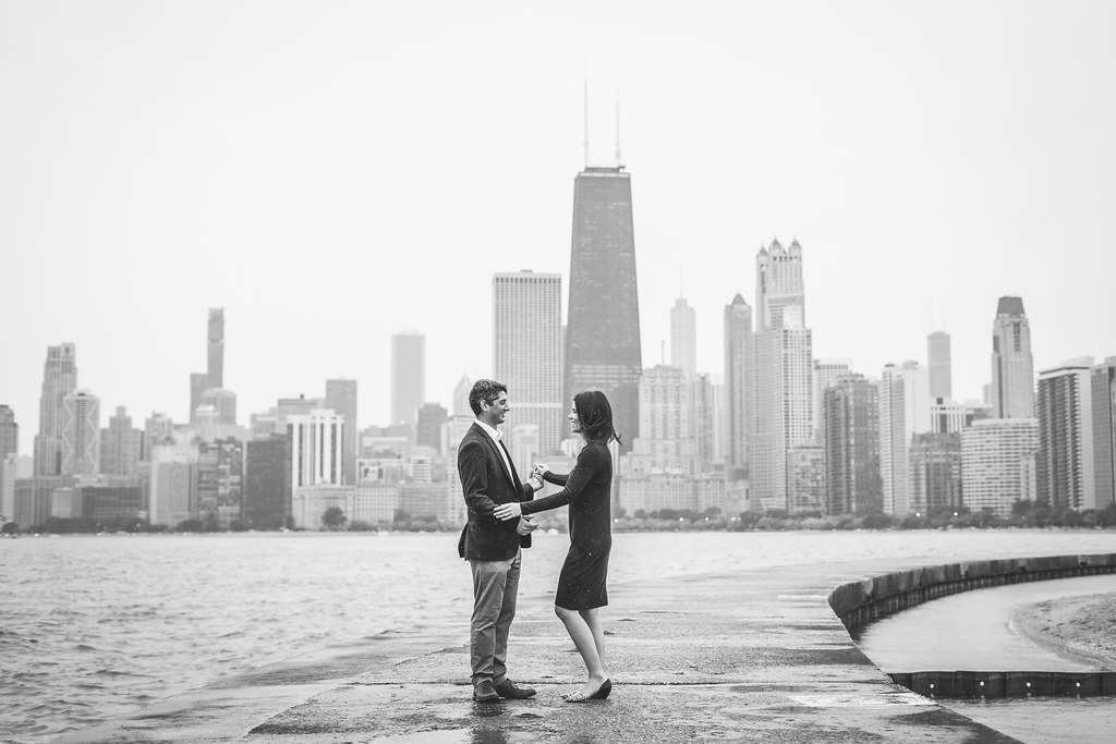 Annie and Mike's engagement shoot in Lincoln Park