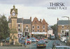 Market Place, Thirsk old postcard 1980s