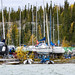 Yellowknife Giant Mine boat launch storage, Yellowknife, Great Slave Lake, NWT