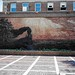 Lincoln Nebraska  ~ Iron Horse Legacy ~ Brick mural sculpture ~ Haymarket Park ~ Film 90's