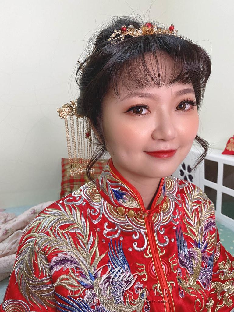 【新秘羽寧 】bride立婉 訂婚造型 / 龍鳳掛,乾燥花造型