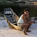 Woman with her dugout canoe, São Gabriel da Cachoeira, Brasil