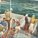 SHIP Ludington MI Steamer THE BADGER OUTBOUND and SS SPARTAN INBOUND Car & Raiload Ferry Era on Lake Michigan Pere Marquette Railroad & later CHESSIE C & O Ferry Service1-