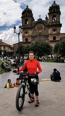Kate at the start of her expedition in Plaza de Armas, Cusco