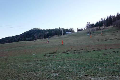 Drag lift @ Ski slope without snow @ Montmin @ Path to Col de la Forclaz