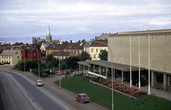 NTHIs idrettshus sett fra Høgskolebrua (1971)