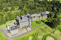 Photo of Taymouth castle from the air.