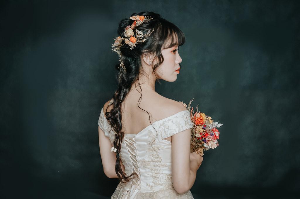 【新秘Catlin】新娘造型創作 /  乾燥花編髮