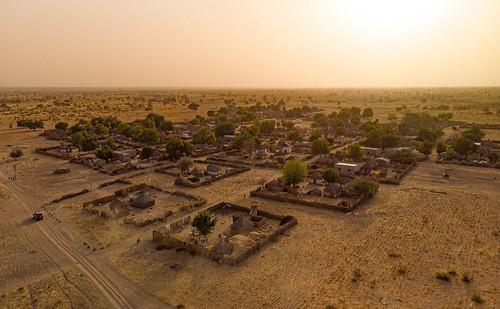 Village amidst the peanut fields