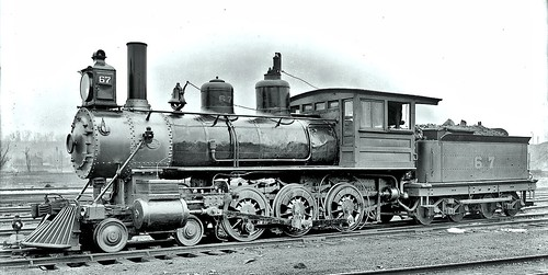 Pittsburgh and Lake Erie Railroad Engine Number 67 at the McKees Rocks Yards. c.1904