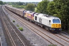 Photo of 67029 & 67027 6M33 Lower Basildon, 25-08-2006.