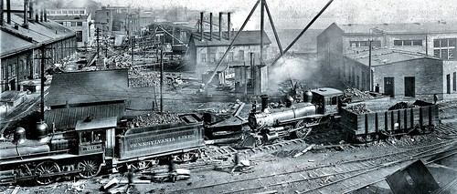 construction of the Pittsburgh, Fort Wayne, and Chicago Railway station in Allegheny City. Nov. 1905