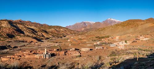 Backdrop of the Atlas mountains
