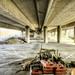 under the bridge 210