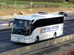 Photo of NH15 PDH - Mercedes -Benz Tourismo - National Holidays -  M1 at Milton Keynes 08Mar20