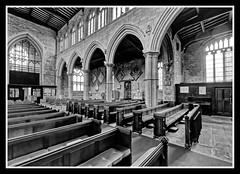 Photo of Nave Looking North West BW