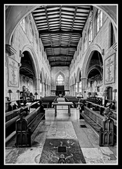 Photo of Chancel and Nave BW