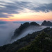 Sunset over Mt. Huangshan - China
