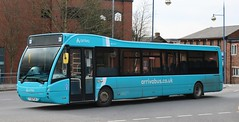 Photo of Arriva Midlands 3699 YJ12PLN at Hanley Bus Station with a terminating 164 service from Market Drayton.