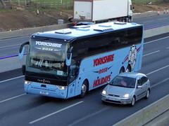 Photo of D1 YRC - Van Hool TX16 Acron - Yorkshire Rose Coaches - M1 at Milton Keynes 08Mar20