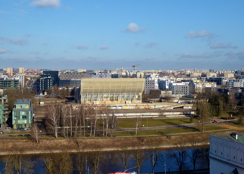 Northern Vilnius skyline, including Palace of Culture & Sports