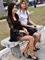 Ladies in Phnom Penh Cambodia.
