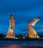 Kelpies lit up