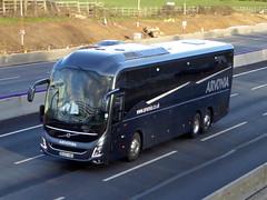 Photo of BU20 VWO - Volvo B11RT / Volvo 9900 - Arvonia Coaches of Llanrug - M1 at Milton Keynes 08Mar20