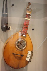Photo of Guitars, Ukuleles, etc. [Necked Box Lutes played with Hands] 08: English Guitar [keyed] (at St Cecilia�s Hall)