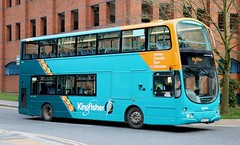 Photo of First Potteries 37157 AU07DXT working a 32 'Kingfisher' service leaving Hanley for Uttoxeter.