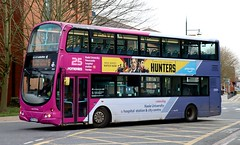 Photo of First Potteries 32639 KP54AZA working Stoke on Trent local area services in Hanley.
