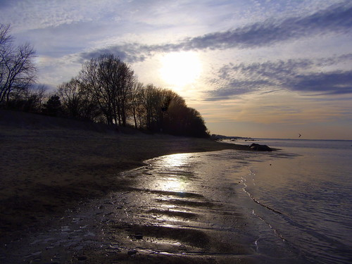 Sunset glow on the Baltic Sea