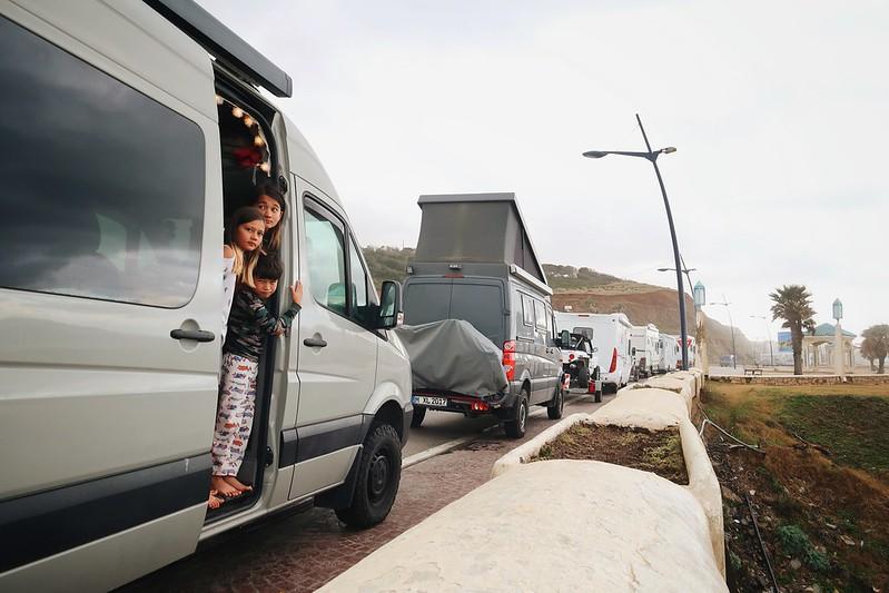 Border run from Agadir to Ceuta. Border closed. Morocco Spain.