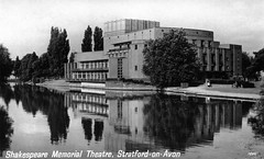 Photo of warks - shakespeare memorial theatre stratford-on-avon old postcard