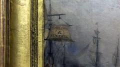 Samuel Colman, Jr., Ships Unloading, New York (detail)