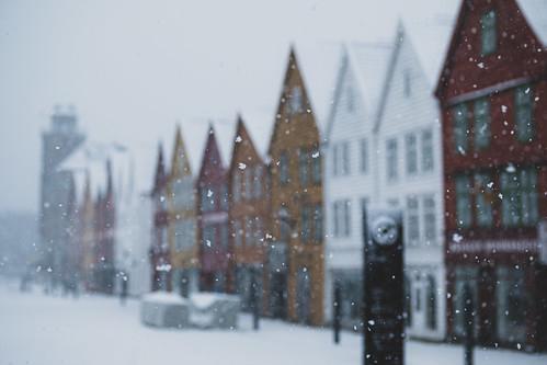 Bryggen snow