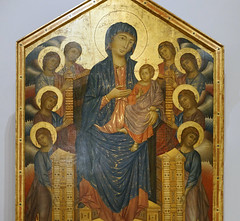 Cimabue, Maestà or Santa Trinita Madonna and Child Enthroned