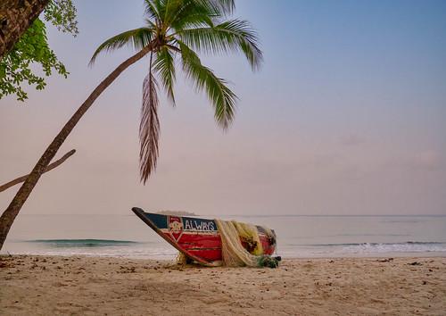 Tokeh beach fishermans boat