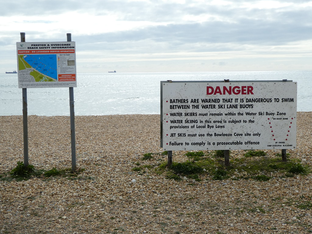 Beach Warning signs