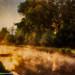 Brume matinale dans le marais poitevin en 2003 ré-édité en version impressioniste en clin d'oeil à Mr Turner.