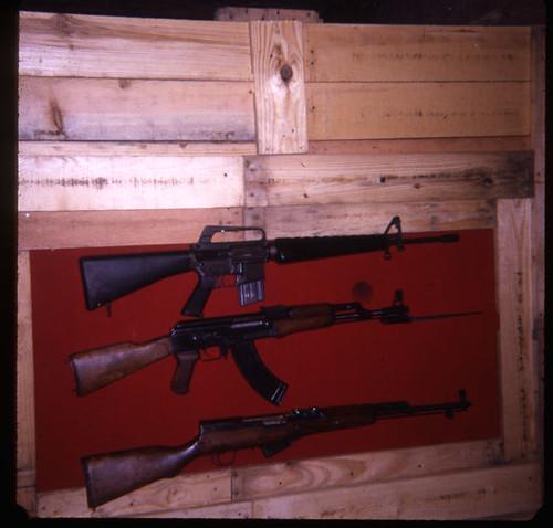 """M-16, AK-47, SKS, C-4"", Vietnam, March 1968"