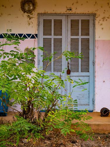 Run-down hotel, yet beautifull doors