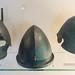 Three Etruscan bronze helmets from the Guglielmi collection, Vulci