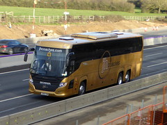Photo of JH19 COM - Scania K410EB6 Higer Touring - JH Coaches - M1 at Milton Keynes 08Mar20