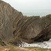 Folded geological strata, Lulworth Cove