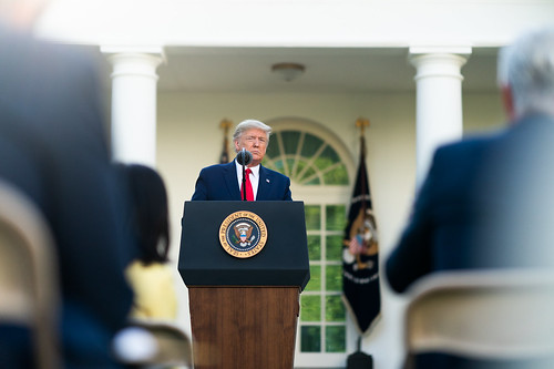 President Trump Delivers Remarks During by The White House, on Flickr