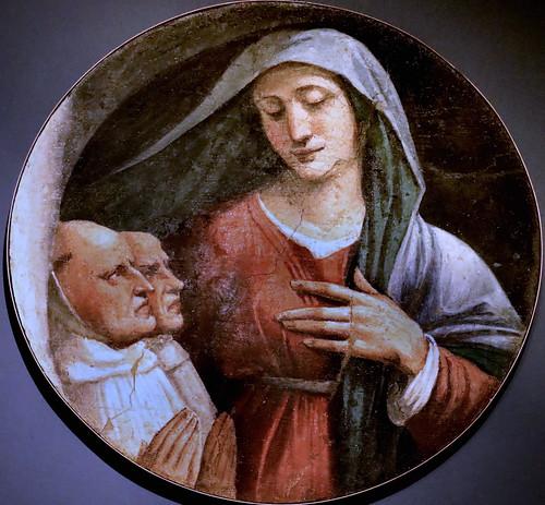 IMG_9464I Girolamo da Carpi (Girolamo Sellari )1500-1556  Ferrara Vierge avec deux moines olivetains Virgin with two olive monks Ferrara Pinacoteca Nazionale